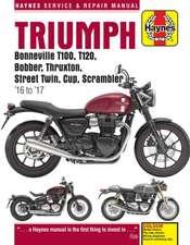 Triumph Bonneville T100, T120, Bobber, Thruxton, Street Twin, Cup & Scrambler (16 - 17) Haynes Repair Manual