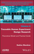 Traceable Human Experiment Design Research: Theoretical Model and Practical Guide