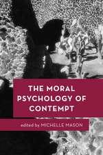 Moral Psychology of Contempt