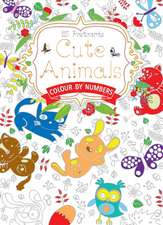 Cute Animals Postcard Book: Colour by Numbers