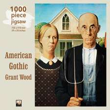 Adult Jigsaw Puzzle Grant Wood: American Gothic: 1000-piece Jigsaw Puzzles