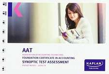 FOUNDATION CERTIFICATE IN ACCOUNTING SYNOPTIC TEST ASSESSMENT - POCKET NOTES