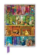 Aimee Stewart: A Stitch in Time Bookshelves (Foiled Journal)
