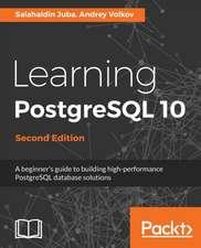 Learning PostgreSQL 10 -