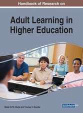 Handbook of Research on Adult Learning in Higher Education