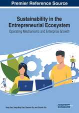Sustainability in the Entrepreneurial Ecosystem