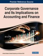 Corporate Governance and Its Implications on Accounting and Finance