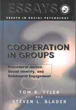 Tyler, T: Cooperation in Groups