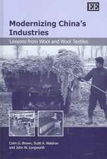 Modernizing China′s Industries – Lessons from Wool and Wool Textiles