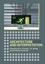 Architecture and Interpretation – Essays for Eric Fernie