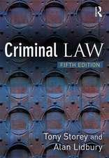 Storey, T: Criminal Law