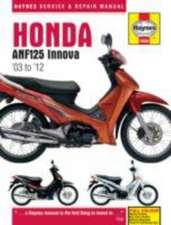 Honda ANF125 Innova Scooter (03 - 12) Haynes Repair Manual
