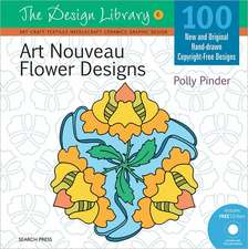 Art Nouveau Flower Designs [With CDROM]:  Life Drawing