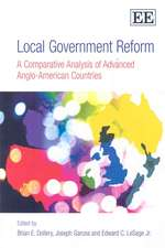 Local Government Reform – A Comparative Analysis of Advanced Anglo–American Countries