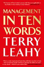 Leahy, T: Management in 10 Words