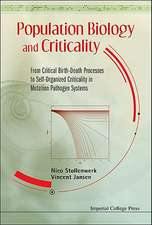 Population Biology and Criticality