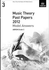 Music Theory Past Papers 2012 Model Answers, ABRSM Grade 3