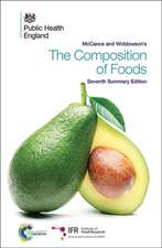 McCance and Widdowson's the Composition of Foods