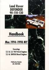 Land Rover Defender 90 110 130 Handbook Mar. 1994-1998 MY