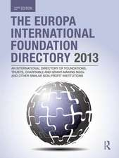 The Europa International Foundation Directory 2013