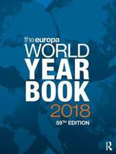 The Europa World Year Book 2018, 59th Ed.