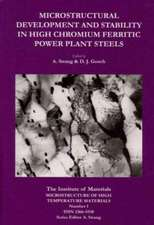 Microstructural Development and Stability in High Chromium Ferritic Power Plant Steels
