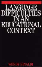 Language Difficulties in an Educational Context