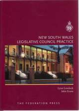 New South Wales Legislative Council Practice