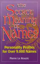 Secret Meaning of Names