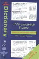 Compton, H: The Official Dictionary of Purchasing and Supply