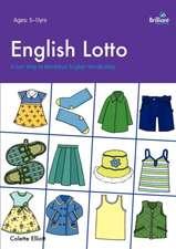 English Lotto. a Fun Way to Reinforce English Vocabulary