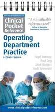 Clinical Pocket Reference Operating Department Practice