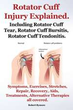 Rotator Cuff Injury Explained. Including Rotator Cuff Tear, Rotator Cuff Bursitis, Rotator Cuff Tendonitis. Symptoms, Exercises, Stretches, Repair, Re