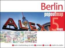 Berlin PopOut Map, 5 maps