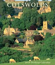 Cotswolds Large Desktop Calendar - 2019