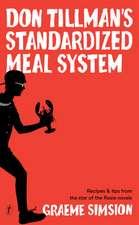Don Tillman's Standardised Meal System