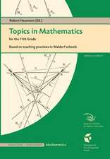 Topics in Mathematics for the Eleventh Grade:  Based on Teaching Practices in Waldorf Schools