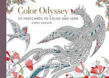 Color Odyssey:  20 Postcards to Color and Send