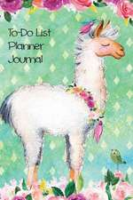 To Do List Planner Journal Notebook for Animal Lovers Llamas in Flowers 2