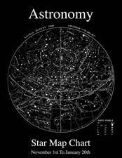 Astronomy Star Map Chart November 1st to January 20th