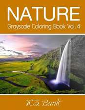 Nature Grayscale Coloring Book Vol. 4