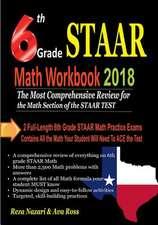 6th Grade Staar Math Workbook 2018