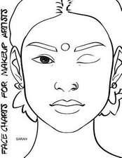 Face Charts for Makeup Artists Sarah