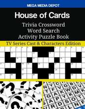 House of Cards Trivia Crossword Word Search Activity Puzzle Book