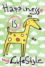 Journal Notebook for Dog Lovers, Happiness Is My Lifestyle Yellow Dog 4