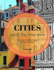 Adult Coloring Book Cities