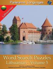 Parleremo Languages Word Search Puzzles Lithuanian - Volume 5