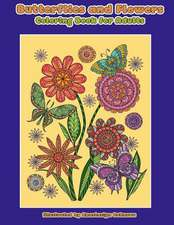 Butterflies and Flowers Coloring Book for Adults