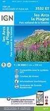 Les Arcs/La Plagne/Pn de la Vanoise (Gps) 1:25 000