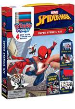 Drawmaster Marvel Spider-Man: Super Stencil Kit: 4 Easy Steps to Draw Your Heroes